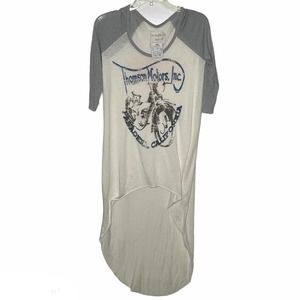 Free People NEW Thompson Moto Graphic Print Tee XS